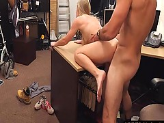 Yellow-haired Amateur Sells Her Car And Vagina At The Pawnshop